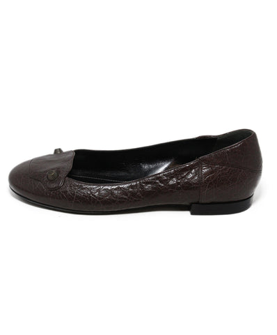 Balenciaga Brown Leather Flats 1