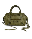 Balenciaga Green Olive Leather Handbag | Balenciaga
