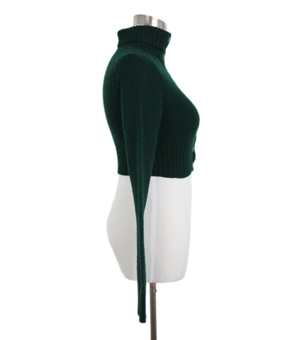 Balenciaga Forest Green Wool Turtleneck 1