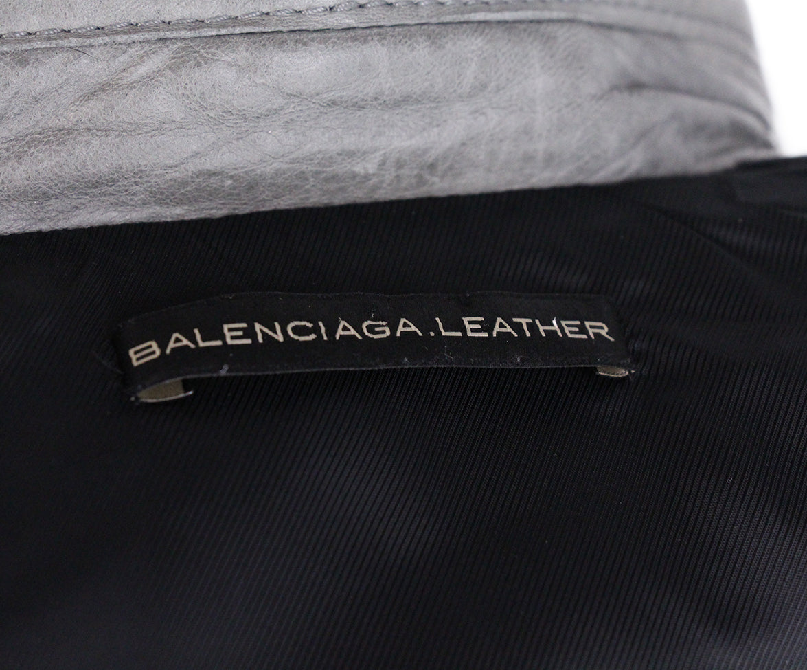 Balenciaga grey Lambskin Leather 4