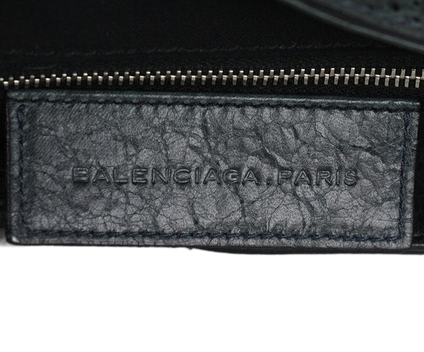 Balenciaga grey leather crossbody bag 8