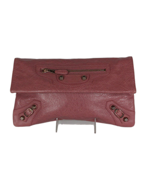 Balenciaga Pink Leather Clutch 1