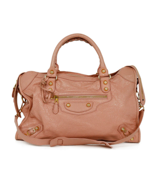 Balenciaga Pink Leather Satchel Handbag 1
