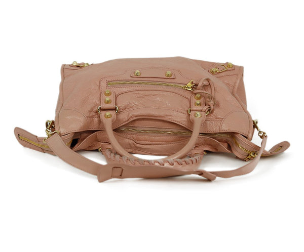 Balenciaga Pink Leather Satchel Handbag 5