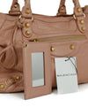 Balenciaga Pink Leather Satchel Handbag 8