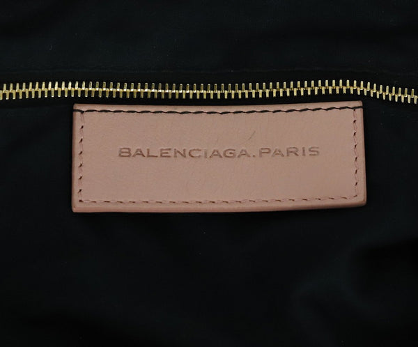 Balenciaga Pink Leather Satchel Handbag 7