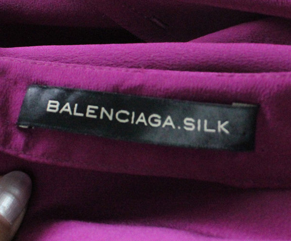 Balenciaga Magenta Pink Silk Dress sz 2