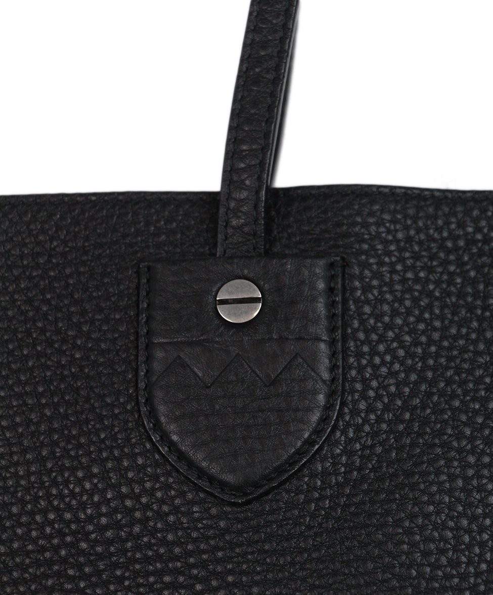 Bally Black Leather Tote 8