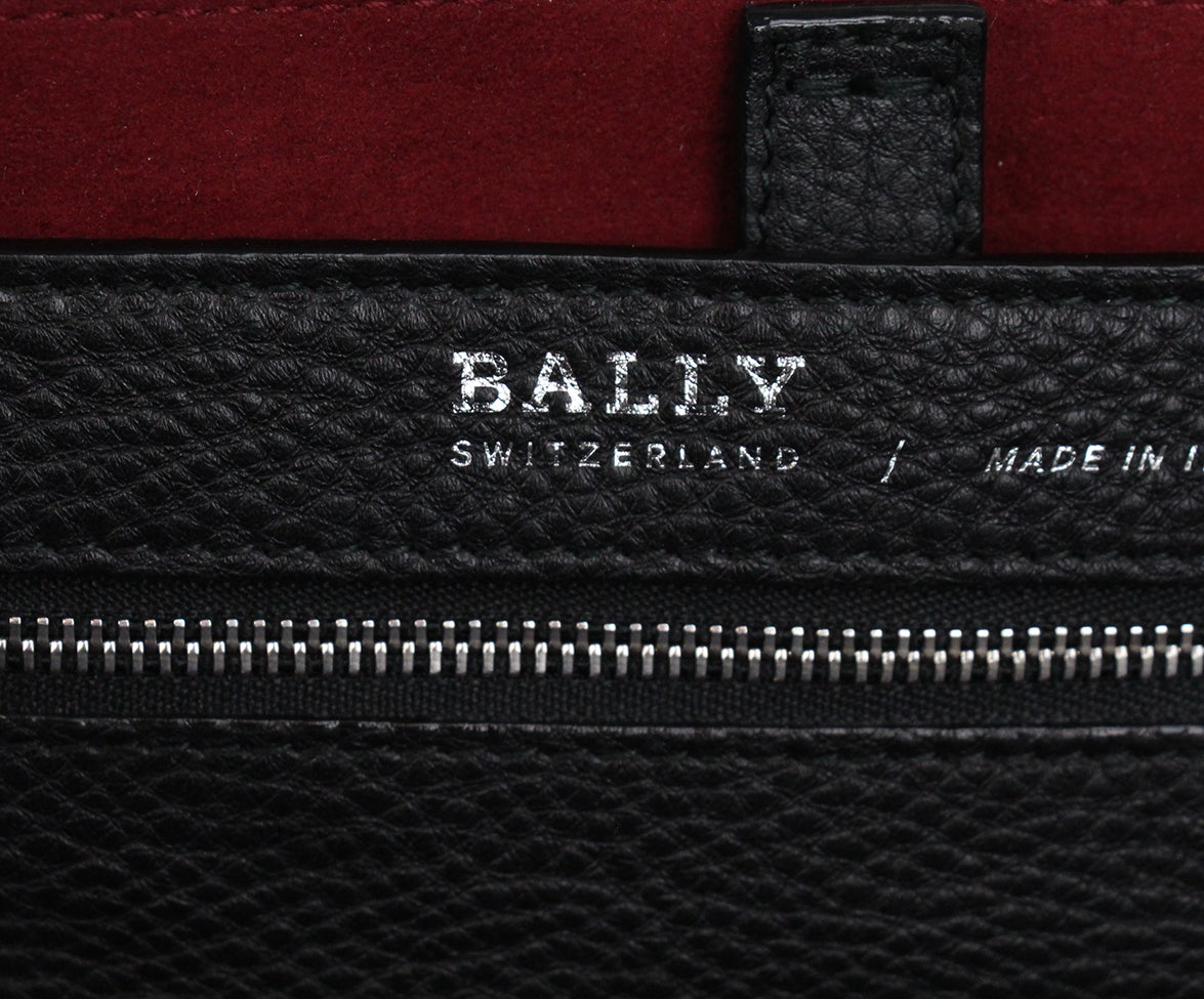 Bally Black Leather Tote 7