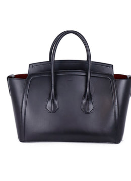Bally Black Leather Tote Handbag 1