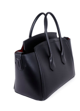 Bally Black Leather Tote Handbag 2