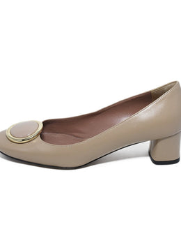 Bally Neutral Taupe Leather Heels 2