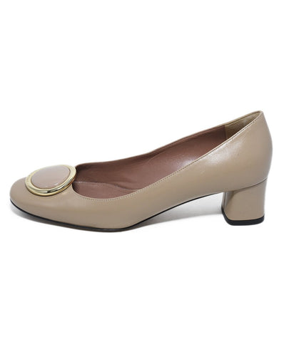 Bally Neutral Taupe Leather Heels 1