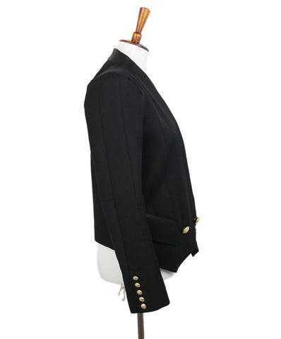 Balmain Black Wool Jacket 1