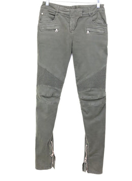 Balmain Olive Cotton Pants