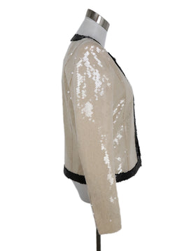 Balmain Cream Black Sequins Jacket 2