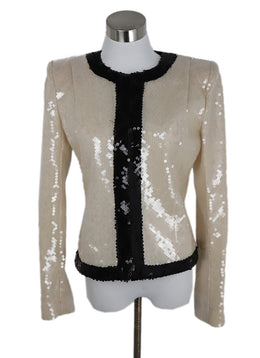 Balmain Cream Black Sequins Jacket 1
