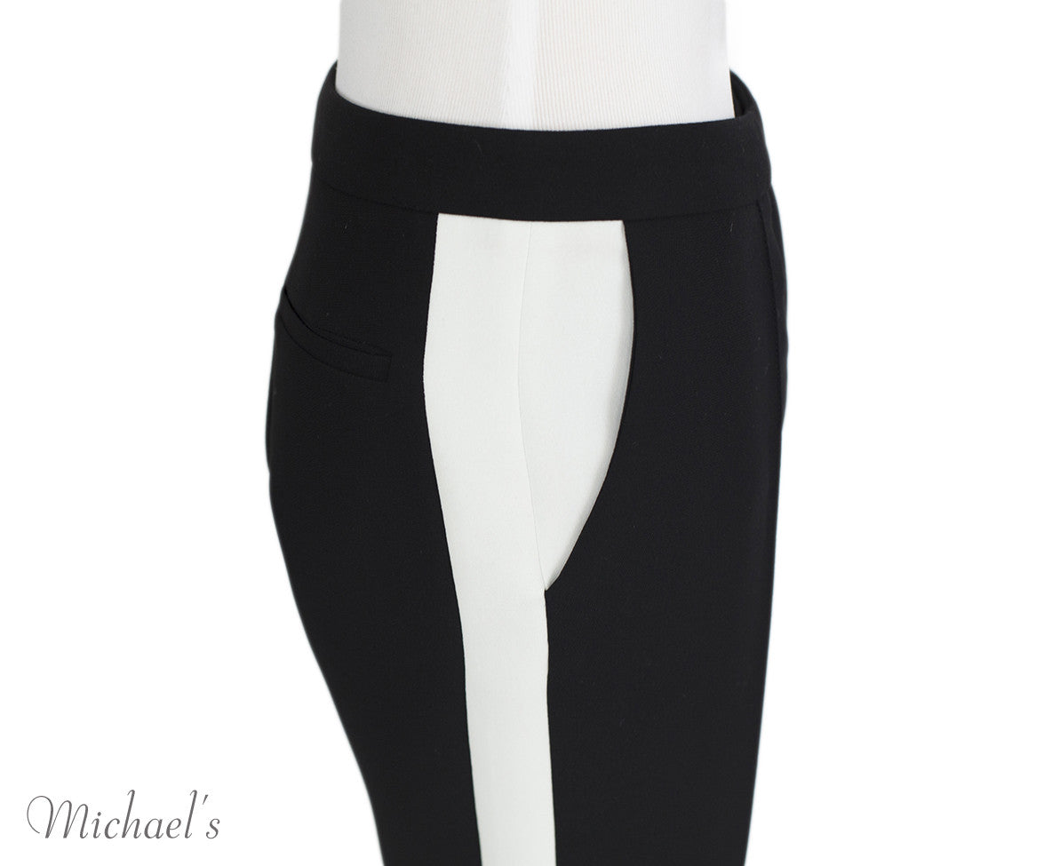 Barbara Bui Black and White Polyester Pants Sz 38 - Michael's Consignment NYC  - 4