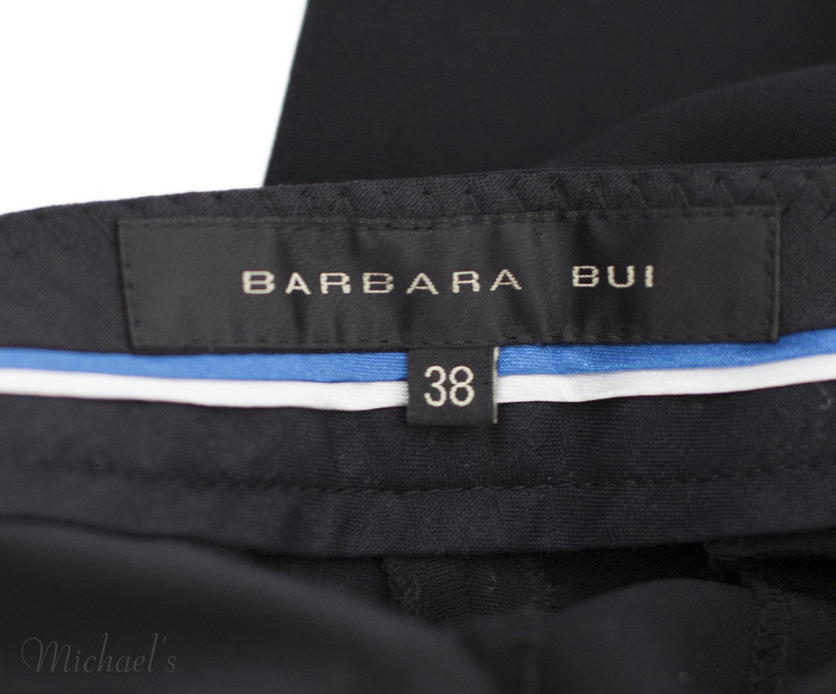 Barbara Bui Black and White Polyester Pants Sz 38 - Michael's Consignment NYC  - 5