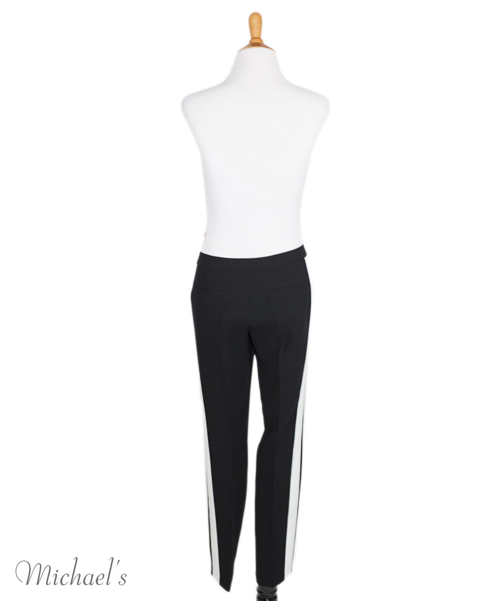 Barbara Bui Black and White Polyester Pants Sz 38 - Michael's Consignment NYC  - 3