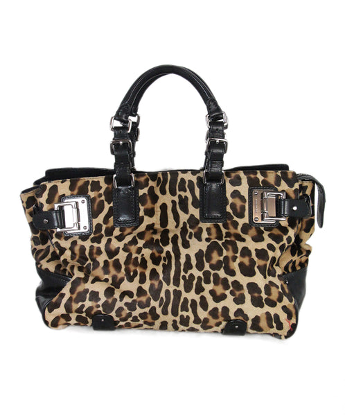 Barbara Bui Animal Print Pony Hair Satchel 1