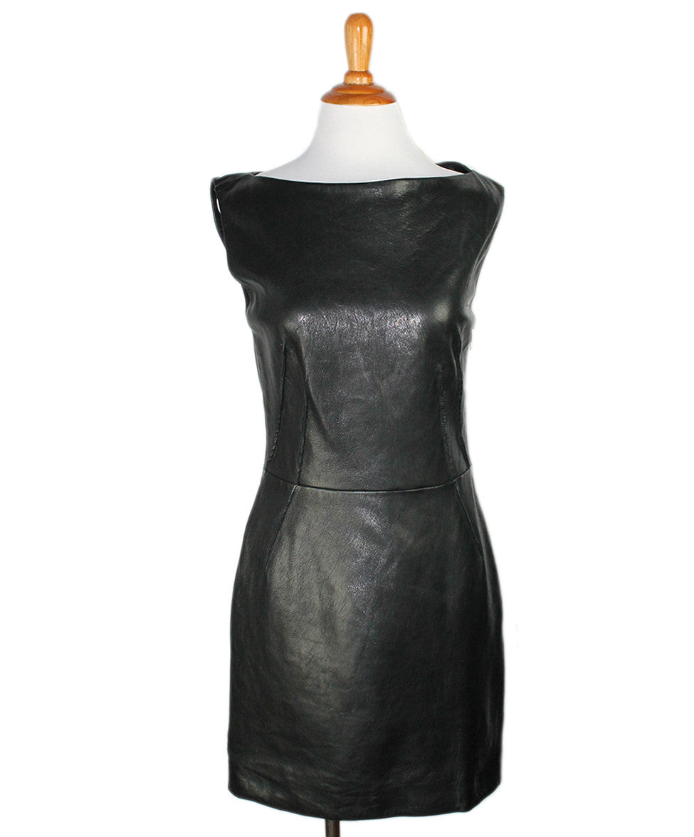 Barbara Bui Black Leather Dress Sz 38 - Michael's Consignment NYC  - 1