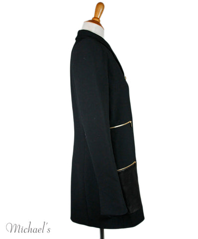 Barbara Bui Black Coat Sz 8