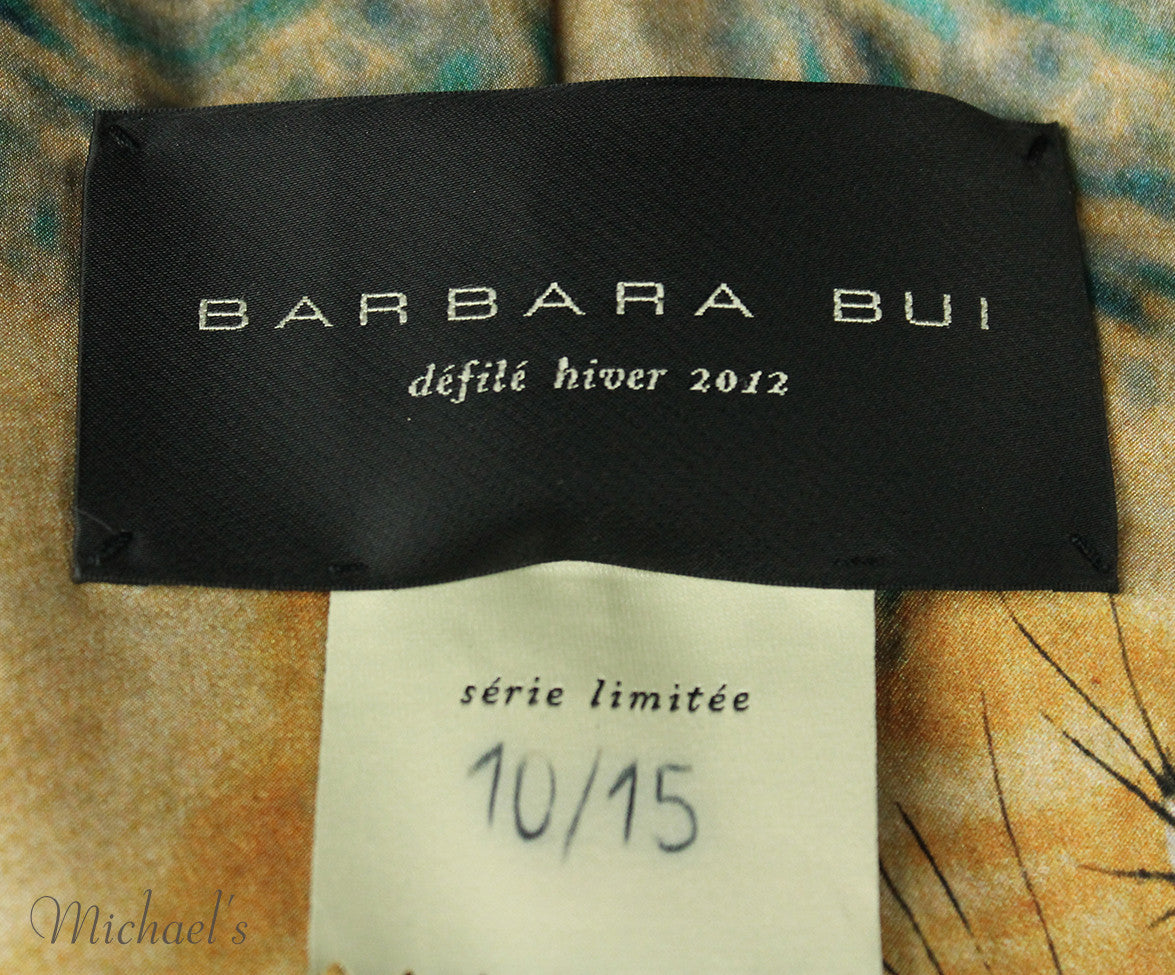 Barbara Bui Limited Edition Runway 2012 Gold Lamb Leather Jacket Sz 6 - Michael's Consignment NYC  - 5