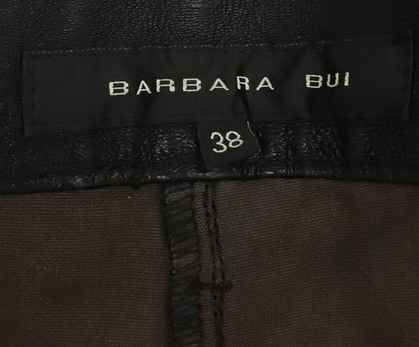 Barbara Bui Black Leather Flare Pants 3