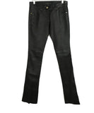 Barbara Bui Black Leather Flare Pants 1