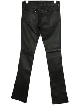Barbara Bui Black Leather Flare Pants 2