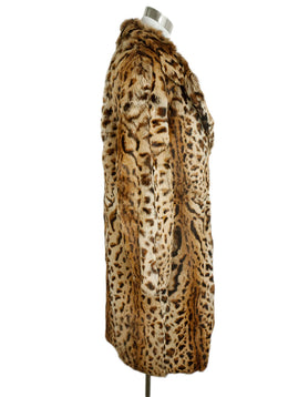 Barbara Bui Brown Animal Print Rabbit Fur Coat 2