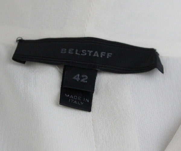 Belstaff Neutral Ivory Silk Studded Longsleeve Top 4