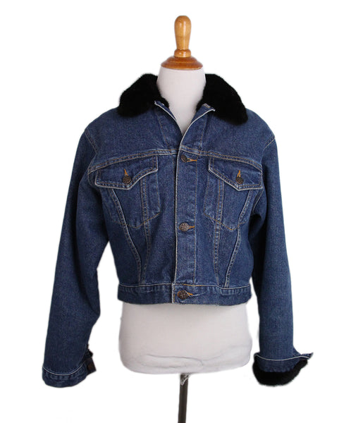 Blue Denim Mink Lining Jacket 1