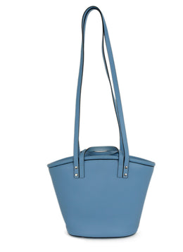 Hereu Blue Leather Handbag 1