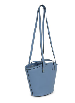 Hereu Blue Leather Handbag 2