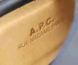 A.P.C. Navy Leather Espadrilles Shoes 5