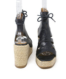 A.P.C. Navy Leather Espadrilles Shoes 3