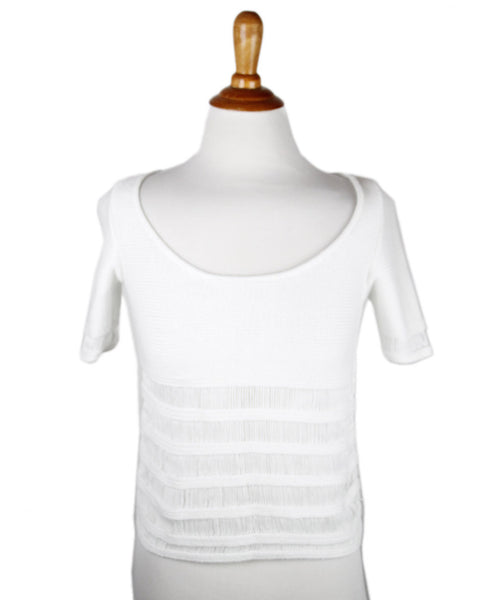 Blumarine Blugirl White Cotton Top Sz 4