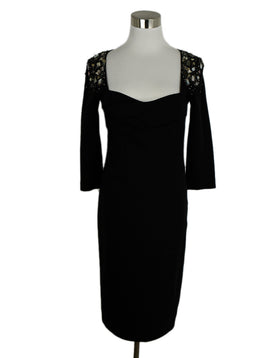Blumarine Black Beaded Dress 1