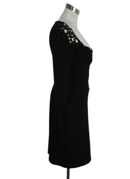 Blumarine Black Beaded Dress 2