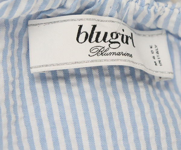 Blumarine Blue White Cotton Stripes Top 4