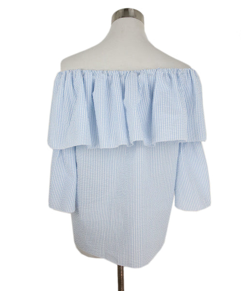 Blumarine Blue White Cotton Stripes Top 3