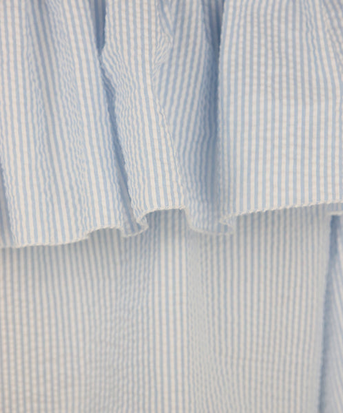 Blumarine Blue White Cotton Stripes Top 5