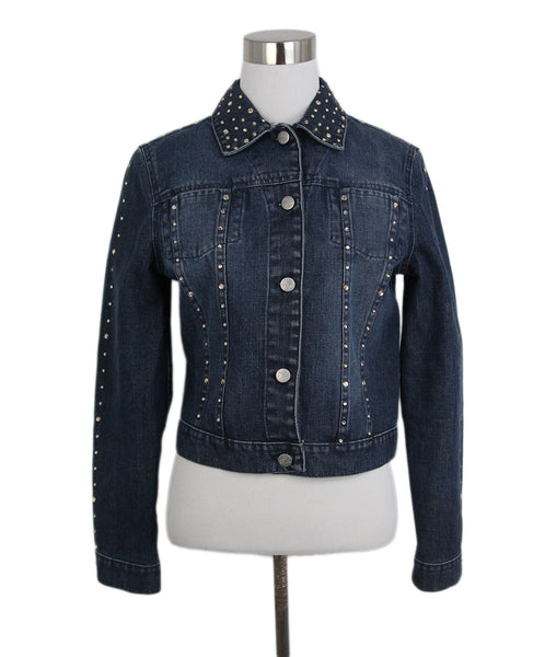 Blumarine denim rhinestone jacket 1