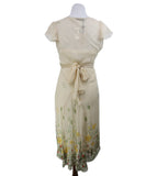Blumarine Neutral Multi Print Beaded Embroidery Silk Dress 3
