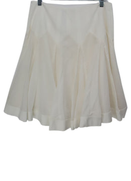 Blumarine White Cotton Spandex Pleated Skirt 2