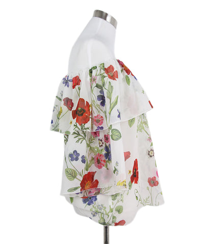 Blumarine white red floral top 1