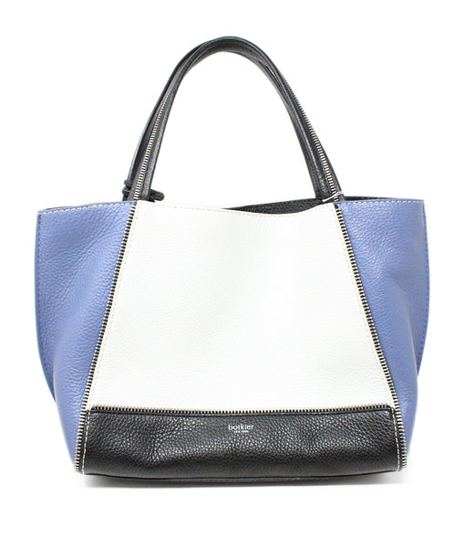 Botkier Blue White Black Color Block Leather Shoulderbag 1