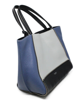 Botkier Blue White Black Color Block Leather Shoulderbag 2